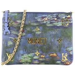 Louis Vuitton Pochette Clutch Limited Edition Jeff Koons Monet Print Canvas