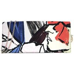 Christian Dior Multi-Color Floral Graffiti Logo Charm Crossbody/Clutch Bag