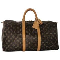 Louis Vuitton Monogram Keepall 50 Travel Bag