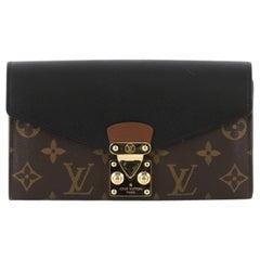 Louis Vuitton Pallas Wallet Monogram Canvas and Calf Leather