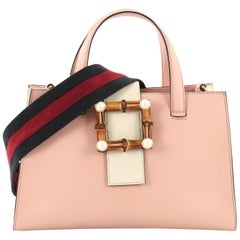 Gucci Bamboo Buckle Tote Leather Small
