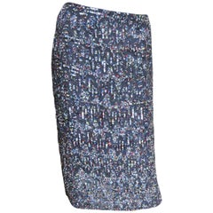 Rena Lange Elaborately Beaded Skirt