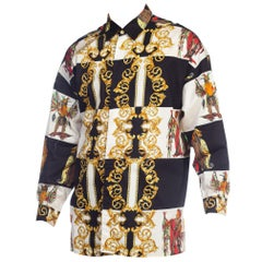 1990s Gianni Versace Versus Native American Cotton Shirt