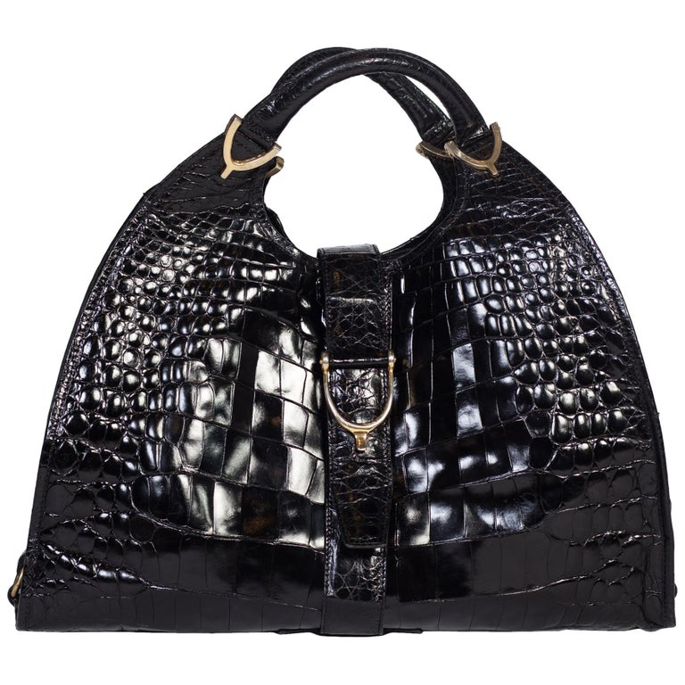 7a45930ea 1970s Crocodile Belly Original Gucci Stirrup Bag For Sale at 1stdibs