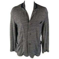 45rpm L Indigo Knit Cotton Sport Coat