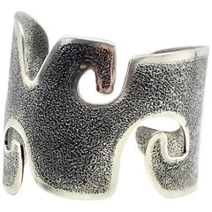 Grandmother, cast silver cuff bracelet Melanie Yazzie Navajo contemporary
