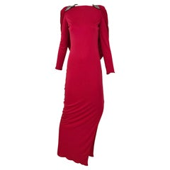 Vintage Valentino Red Silk Jersey Open Back Dress