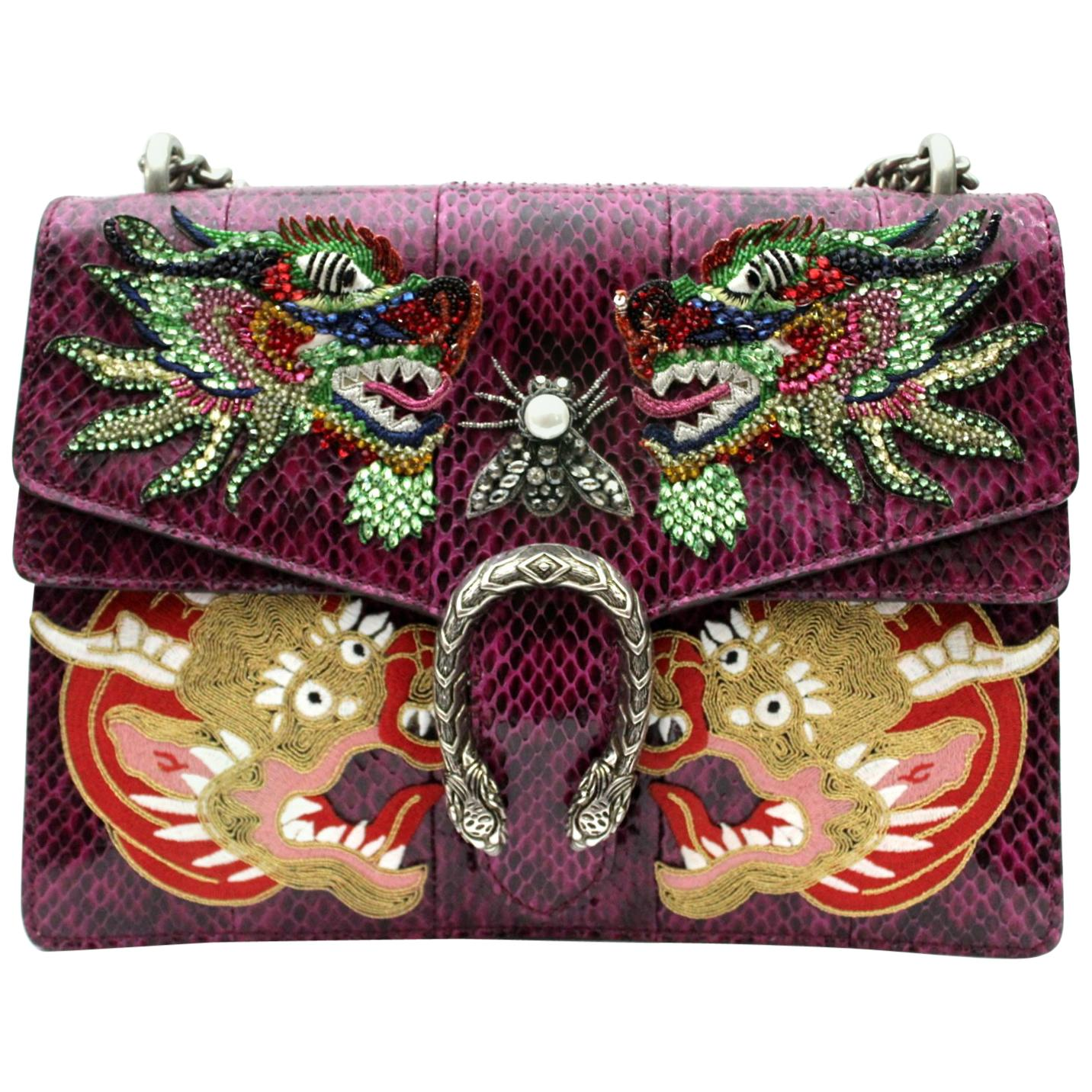 Gucci Dionysus Purple Leather Bag