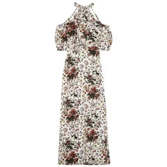 Erdem Annaliese Cold-Shoulder Floral-Print Silk Crepe De Chine Dress