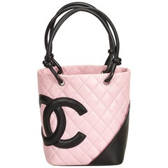 Chanel Pink x Black Cambon Ligne Petit Bucket Bag