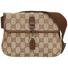 Gucci Brown x Beige x Brown x Dark Brown Guccissima Jacquard Belt Bag