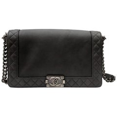 2013/2014 Chanel Gry Leather Reverso Boy Bag
