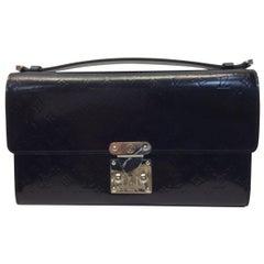 Louis Vuitton Black Patent Leather Clutch