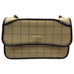 Chanel Camel and Black Shoulder Bag