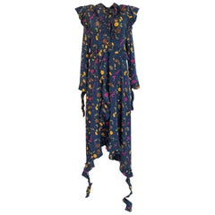 Fall 2016 Vetements Blue Floral Jersey Runway Dress Look 41