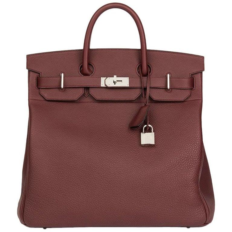 278023ad7d4e 2017 Bordeaux Togo Leather Birkin 40cm HAC For Sale at 1stdibs