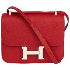 Hermès 2013 Rouge Casaque Epsom Leather Constance 18