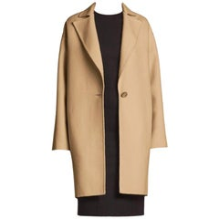 Caroline Herrera Icon Collection Single-button Dress Coat US 4