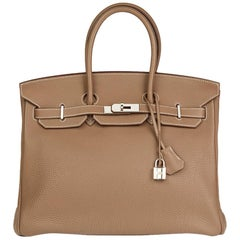 2009 Hermès Etoupe Togo Leather Birkin 35cm