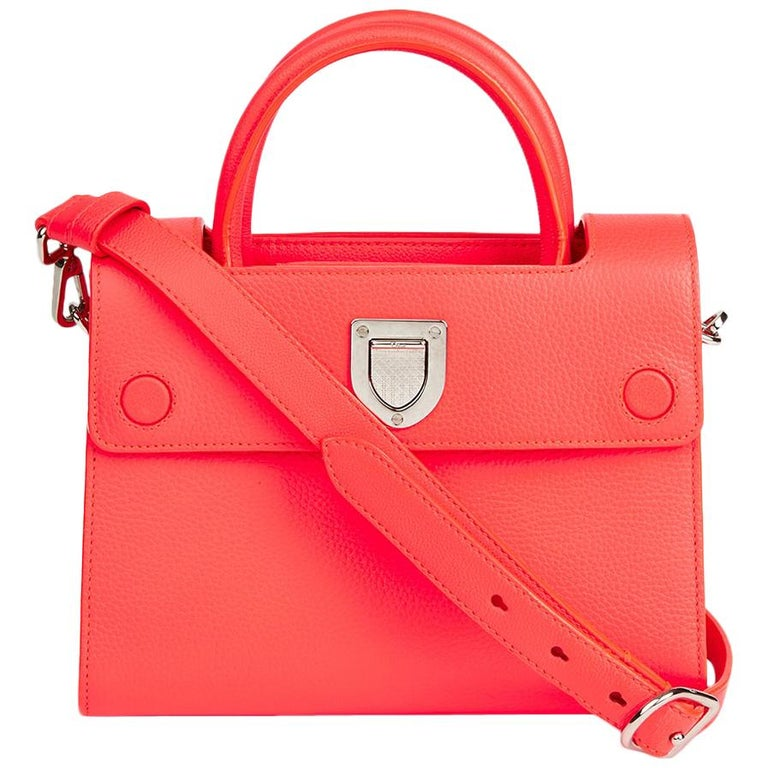 18f1b21e4e 2016 Christian Dior Goji Pink Grained Calfskin Mini Diorever Tote For Sale