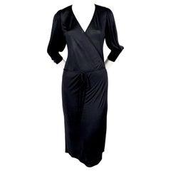 2000 BALENCIAGA le dix by NICOLAS GHESQUIERE black jersey wrap dress