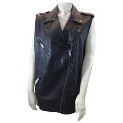 Current Elliot Black Leather Vest