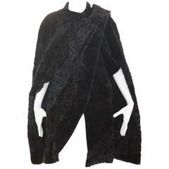 1970s Unique Fendi Fur and Silk Organza Cape (S)