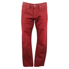 RRL by RALPH LAUREN Size 33 Red Selvedge Denim Jeans