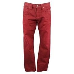 RRL by RALPH LAUREN Size 33 Red Selvedge Denim Jeans