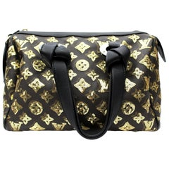 LOUIS VUITTON Limited Edition Gold Monogram Eclipse Speedy 28 Bag