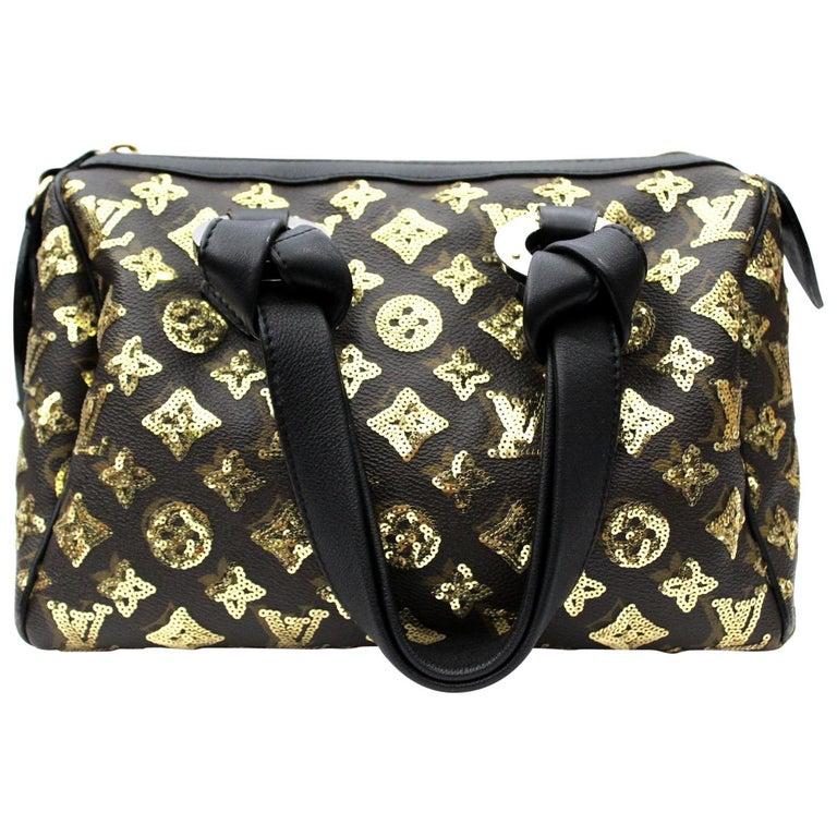 LOUIS VUITTON Limited Edition Gold Monogram Eclipse Speedy 28 Bag