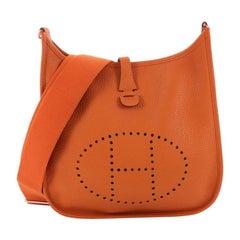 f4d8dbc0d911 Evelyne III Hermes shoulder bag in dove grey taurillon clemence