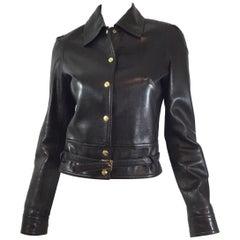 Celine Leather Jacket with Belt