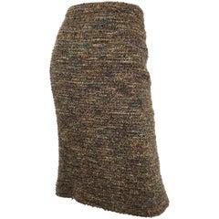 Chanel Fantasy Tweed Skirt with Fishtail Hem