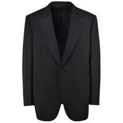 Brioni Mens One Button Black Wool Quirnale Tuxedo Suit
