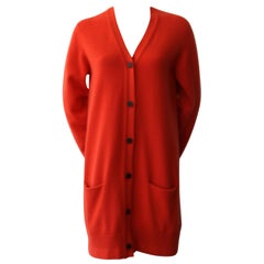 Hermes Orange Cashmere Cardigan