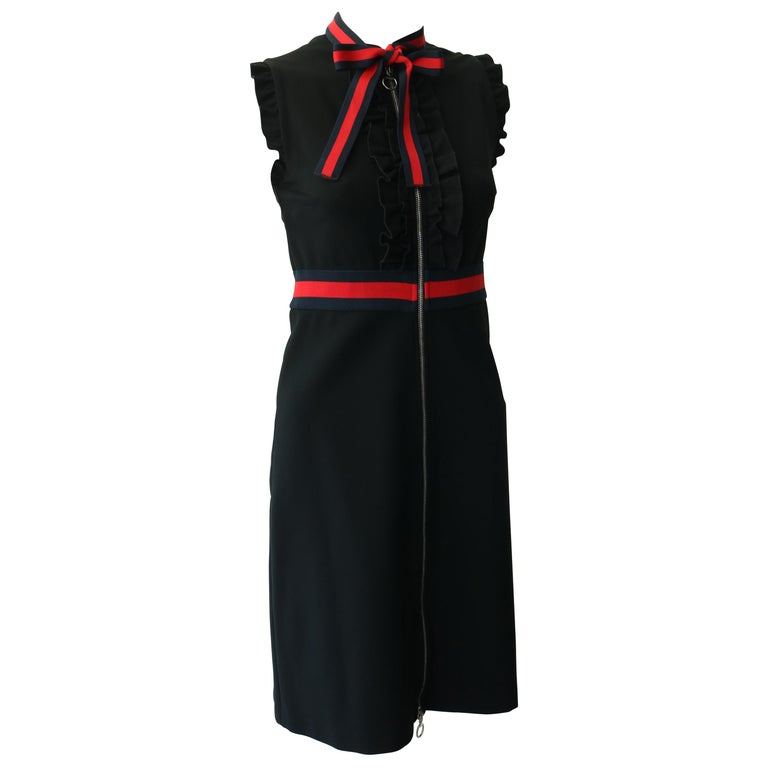 Gucci Jersey dress with Web trim For Sale