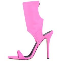 Giuseppe Zanotti NEW Hot Pink Neoprene Sock Evening Boots Booties Heels in Box