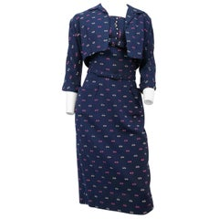 1950s Navy Printed Set