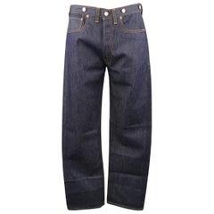 LEVI'S VINTAGE Size 33 Indigo Solid Selvedge Denim Jeans