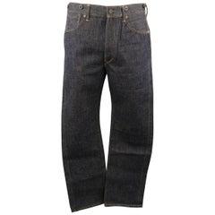 RRL by RALPH LAUREN Size 34 Indigo Solid Denim Jeans