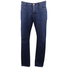 GUCCI Size 38 Indigo Solid Denim Jeans