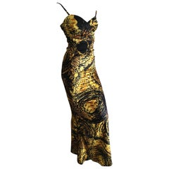 Roberto Cavalli Reptile Print Evening Dress for Just Cavalli