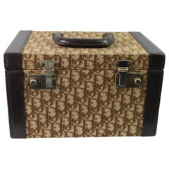Vintage Dior Monogramme Canvas and Leather Vanity Case Trunk