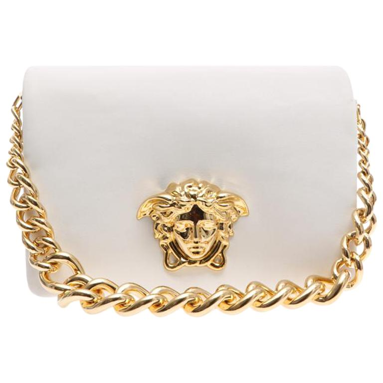 bfa5978a7c New VERSACE Palazzo Sultan white leather shoulder bag at 1stdibs
