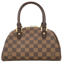 Louis Vuitton Brown Damier Monogram Small Evening Top Handle Satchel Bag II