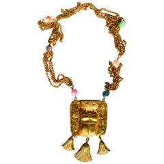Vintage KJL Egyptian Revival Scarab Necklace