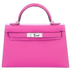 Hermes NEW 20 Mini Kelly Seller II Top Handle Satchel Shoulder Flap Bag in Box