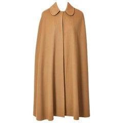 Yves Saint Laurent Camel Wool Cape