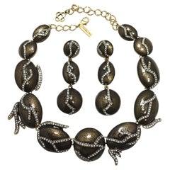 Signed Oscar de la Renta Necklace & Earrings
